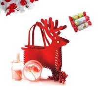 Wholesale Cute Christmas Elk Gifts Candies Bag Pocket Festival Decoration Decor Supplies H15989