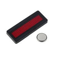 Wholesale LED Programmable Scrolling Name Message Badge Tag Digital Display EnglishHot New Arrival