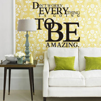 amazing quotes - Everything To Be Amazing Quote Wall stickers Decal Vinyl Wall Window Room Decor removable
