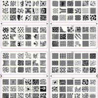 Wholesale 1X New designs x6cm Nail Stamp Stamping Image Plates DIY tip nails Nail Art Templates Manicure Styling Tools to33