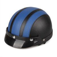 Wholesale Motorcycle Motorbike Open Face Helmet Visor Goggles Scarf Motocycle Helmets visor white scarf style