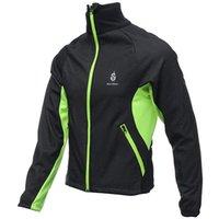 best winter cycling jacket - Best Price Slim Design Men Fleece Long Sleeve Thermal Winter Cycling Waterproof Jacket Windproof Jersey Coat Black Polyester