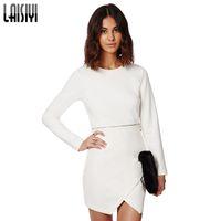 Cheap Spring White Sexy Club Dress Womens Clothes Ladies Casual Long Sleeve Zipper Dresses Femininas 2015 New European American