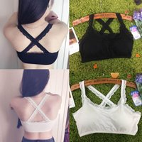 Cheap Bustier Lace Crop Top 2015 Sexy Black White Women Slim Blusa De Renda Comfortable Cotton Casual Wear Women's Tank Free Shipping