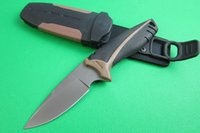 fiber reinforced - GB bear hunting knife Glass fiber reinforced nylon handle HRC Camping hunting knife outdoor survival knife