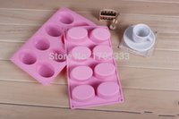 Wholesale Cake bakeware mold Handmade soap mold oval grooves silicone egg cake mold pastry DIY moulds