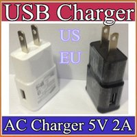 Wholesale 100pcs EU US plug USB Wall Charger V A Travel AC Wall Charger Adapter for Samsung galaxy note N7000 I9220 N7100 S5 S4 I9600 UP