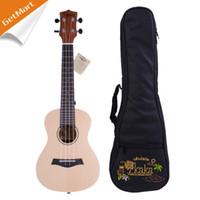 Wholesale KAKA Mini Ukulele Hawaii Guitar Solid AAA Spruce and Sapele Concert Ukelele Hawaii guitarra fret inch w bag