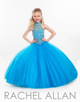beauty zip - Sparkly Custom Made Little Girl s Pageant Dresses Halter Backless Zip Sexy Girls flower Dress Formal Occasion Beauty Clothing Tulle Skirt
