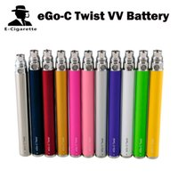 Wholesale eGo c Twist VV Battery eGo Variable Voltage Battery mAh Previous Lock Unlock Function V V Buck Boost Converter