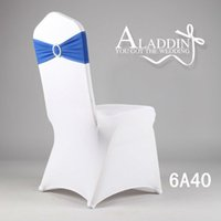Wholesale Discount Hot Sale Universal elegant wedding spandex chair band chair bows cheapest price best quaity