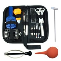 Wholesale Watch Repair Tool Kit Case Watch Hand Opener Link Remover Spring Bar Tool With Carrying Bag WT0002