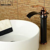 bend shaft - 2016 New design bathroom faucet oil rubbed bronze bending spout waterfall wash basin faucets deck mounted tap mixer