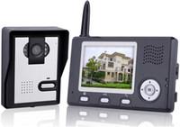Wholesale 3 inch TFT Screen Wireless digital Video Door Phone GHz Intercom Home Security Doorbell in retail box