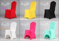 Chair Cover banquet sales - 2015 new style Universal Polyester Spandex Wedding Chair Covers for Banquet Folding Hotel Decoration Decor Quality Hot Sale