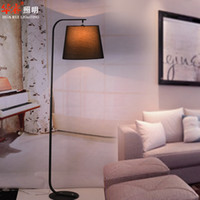 arch floor lamps - Wrought iron floor lamps standing lamps fixtures fabrics lampshade Minimalist Style IKEA arch floor lamps white black homy reading light