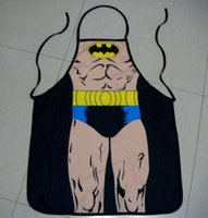 funny novelty aprons - best selling new Aprons Novelty Funny Kitchen New Batman Cooking Apron Night Party Fancy Dress For Gift design cool gift