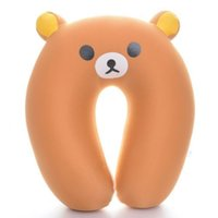 bear massage - Soft Yellow Rilakkuma Bear Club U Shaped Massage Foam Pillows Home Office Travel Neck Pillow NEW