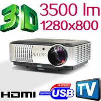 Wholesale 3500Lumens x800 Home Theater acTO Cinema P HD D Video HDMI USB TV LCD LED Projector Beamer Proyector Projetor