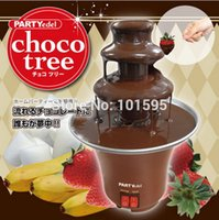 chocolate fountain - New Chocolate Fountain for Home Patry Festive Wedding Children Birthday Event Party Christmas Waterfall Chocolate Machine