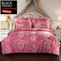 Wholesale Luxury Tencel Bedding Set set Silk Embroidery Jacquard Bed Linens Satin Bed Cover Queen Size Duvet Cover Fast Shipping