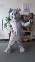 OISK chien gris Mascot Costume Taille Outfit Peluche Costumes Déguisements