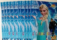 Wholesale Frozen Anna Elsa DIY Colouring Notebook And Sticker Inches Baby Coloring Book Children Puzzle Painting Book DHL Free