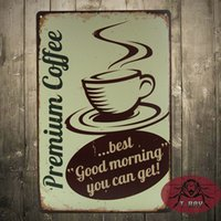 antique coffee cans - Premium Coffee goodmorning you can get metal plate signs retro style metal decoration wall Plaque