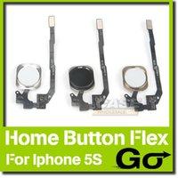 Wholesale Original Home Button Flex Cable Repair Parts Menu Return Key Replacement Flexible Ribbon Button Black White Gold For iPhone S