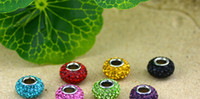 Wholesale 10pcs BY Sold Colours Shambhala Beads Coloured Bright Diamond Beads Shambhala DIY HAND made Jewelry Accessories