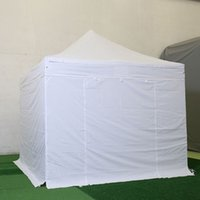 Wholesale Outdoor Party Trade Show Tent M Folding Tent Polyester Fiber with PVC Coating mm with cloth Aluminum Tube White order lt no track