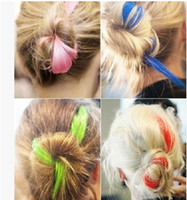 Wholesale Women Colorful Punk Hair Accessories Blanch and Colouring With Length cm Hairpiece Iridescent Wig Choose Color C18F9A