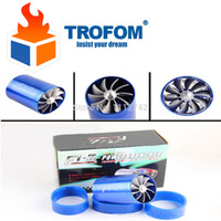 Wholesale 304 stainless car styling F1 Z Turbo Supercharger Air Intake Fuel Saver Fan Double Propeller