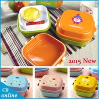 Wholesale 2015 New Arrival Lunch box piece Bento layers Bento Lunch Box Microwavable Lunchbox Bento Box
