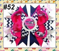 Wholesale quot Layered Bottle Cap Hair Bow popular girl sport bows football hair bows clips fashion hair accessories