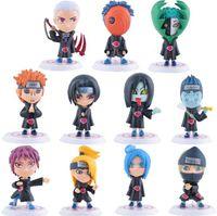 age birthday present - 11pcs cm Naruto Japanese Anime Doll Model Car Decoration PVC Action Figures Birthday Present For Kids