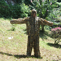 Wholesale New Arrival Natural Leaves Camouflage Leafy Hunting Suit Camo Ghillie Bionic Disguise Training Suit