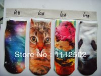 adult tiger slippers - 2014 Freeshipping pairs The tiger ice cream star panda camel print sock slippers short for adults