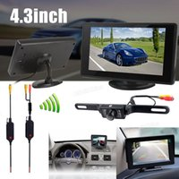 backup monitors - 4 Inch Color TFT Car rear view reverse Monitor Support x Resolution IR Wireless Car Backup Camera CMO_50E
