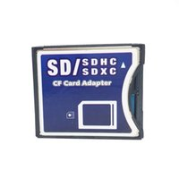 Wholesale 50pcs SD SDHC SDXC to High Speed Extreme Compact Flash CF Type II Adapter support WIFI SD Card for GB