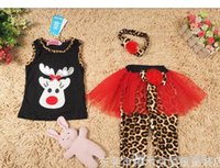 Cheap Girl Christmas Baby Suits Best Summer Sleeveless girl clothing