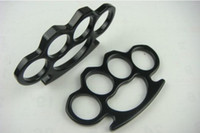 Wholesale Biker Black Steel Iron Knuckles Fist Fighting Equipment Outdoor Self defense Supplies G sample freeshipping