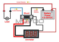 amp meter wiring - DC Two wires Amperemeter quot DC A Red LED Digital Ammeter High Brightness Digital Amp Meter STM8S103