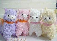 alpaca silk - 50x40cm Japanese Arpakasso Amuse Genuine Silk Scarves Alpaca Doll Stuffed Plush Toy For Girl
