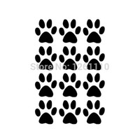 adhesive bumper - 50 Set of Dog Paw Prints Decals Colors Vinyl Sticker For Truck SUV Car Window Bumper Laptop Locker Glass