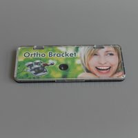 Cheap 1 Kit (20pcs Brackets + 8 Tubes) Dental Orthodontic MIM Metal Bracket Mini MBT 0.018 3 4 5hooks laser marked base