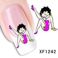 art belle - sexy belle design Water Transfer Nails Art Sticker decals lady women manicure tools Nail Wraps Decals XF1242