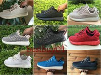 Wholesale 9 Color Original Kanye West Boost Low Pirate Black Moonrock Turtle Dove Grey Oxford Tan Mens Ruuuning Shoes