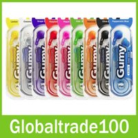 Wholesale Gumy Gummy Earphone HA F150 mm MP3 Earphones Headphones No MIC Colorful for iphone ipad ipod Samsung HTC