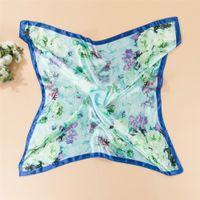silk twill scarf - Supply color butyl emulation silk twill small squares Silk scarves of silk scarves Professional silk scarves fashion scarf